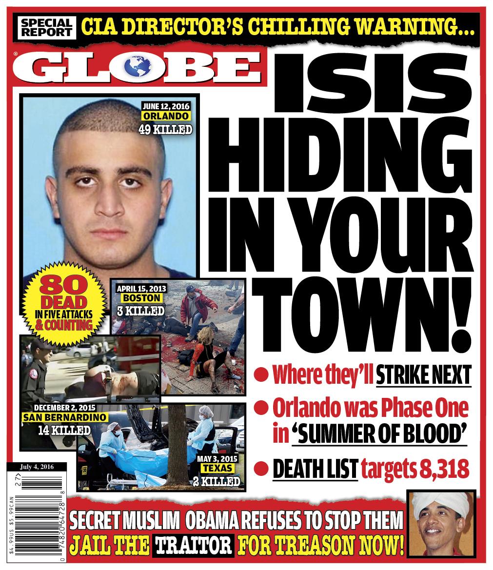 Globe Cover Terrorists