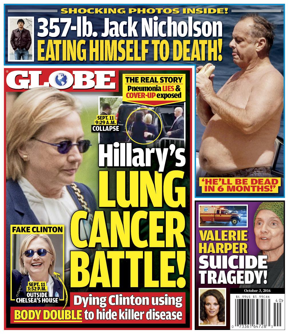 Globe Cover Hillary Clinton Health
